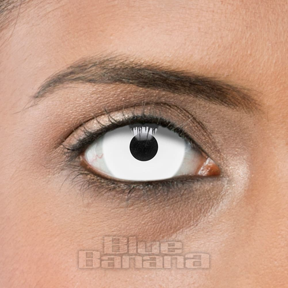 mini sclera zombie halloween 1 day white coloured contact lenses