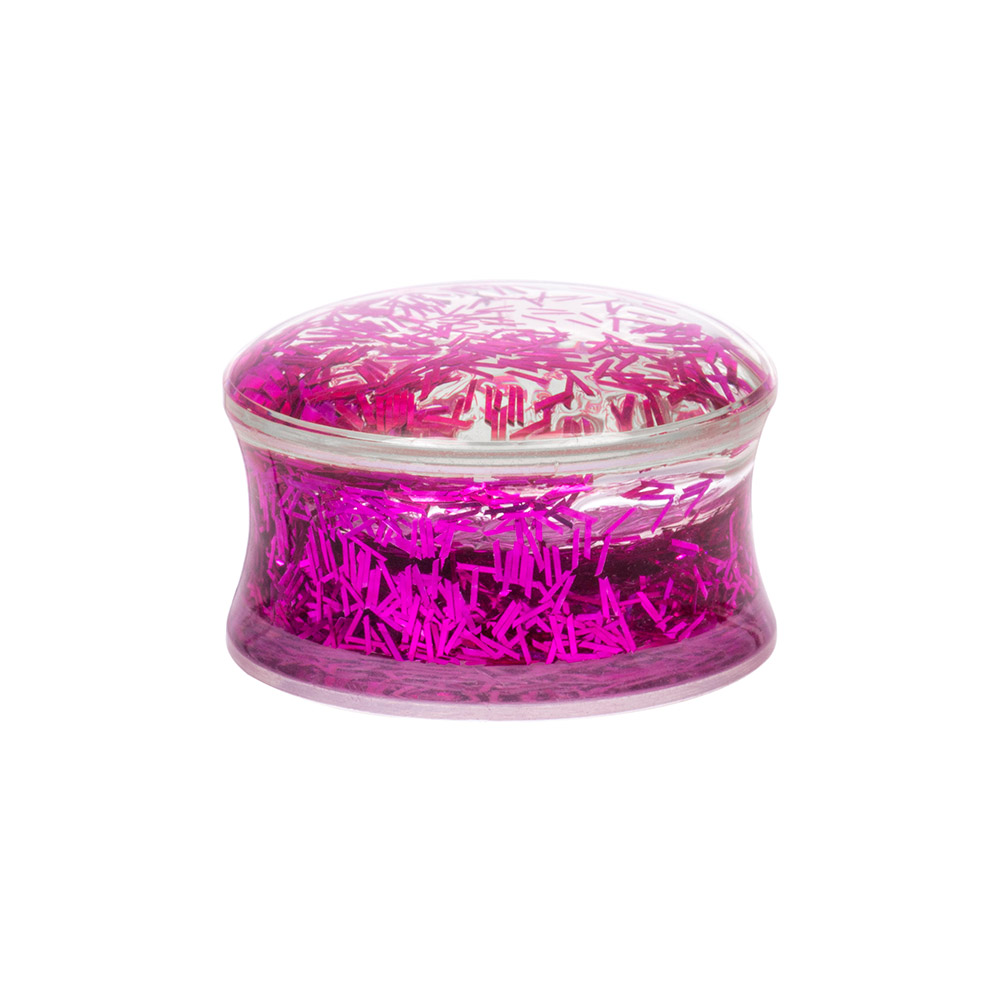 Blue Banana Acrylic Glitter Ear Plug 8-20mm (Pink)