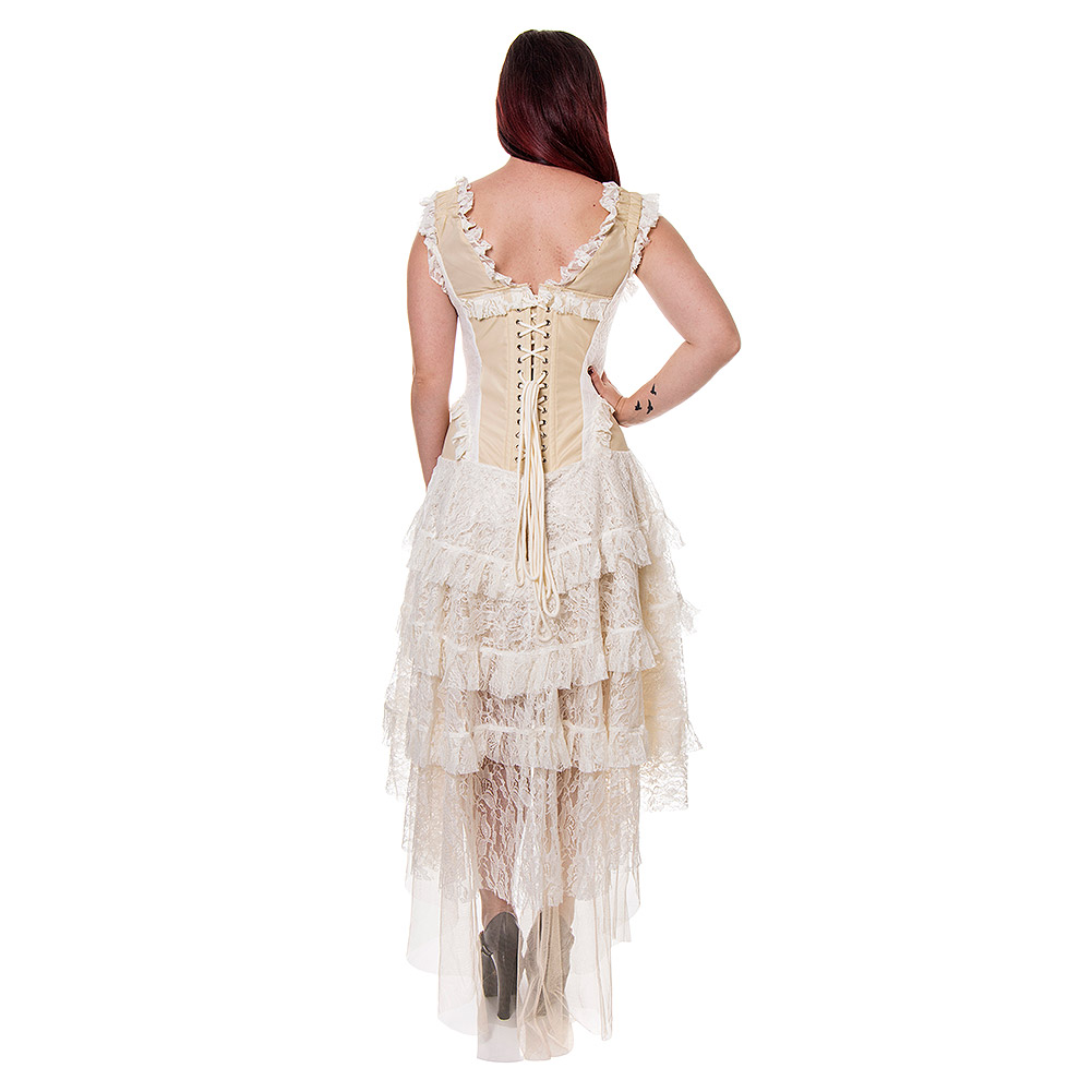 blue banana desdemona cream steampunk corset dress gothic