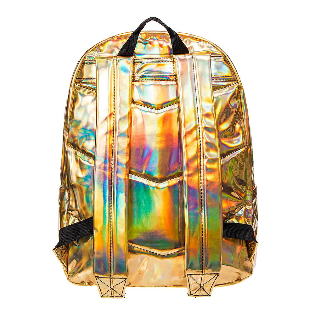 Hype Holographic Gold Backpack Rucksacks And School Bags Uk