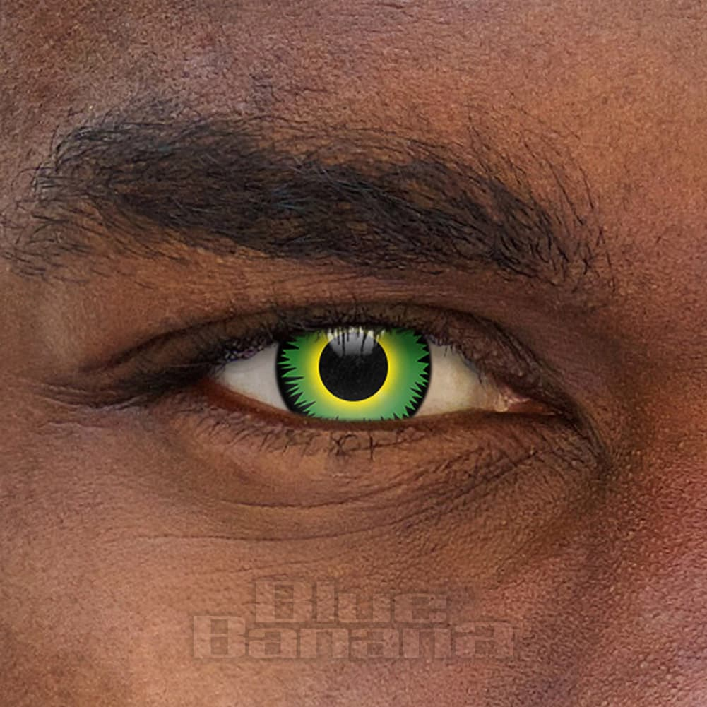 Werewolf Halloween 30 Day Coloured Contact Lenses (Green)
