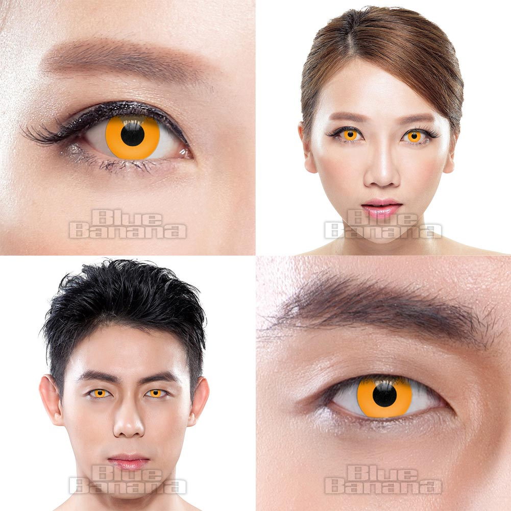 Pumpkin 1 Day Coloured Contact Lenses (Orange)
