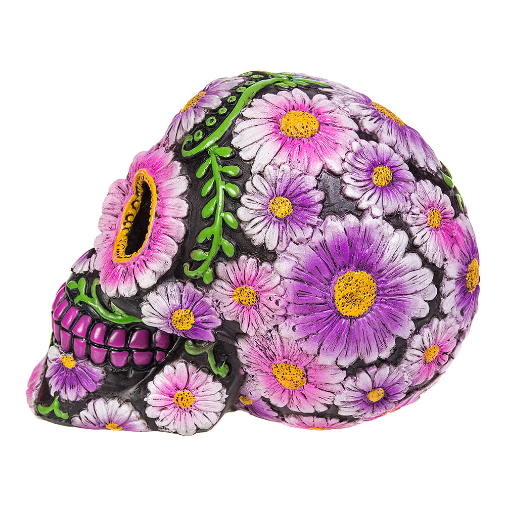 Nemesis Now Skull Sugar Petal Figurine (Purple/Black)