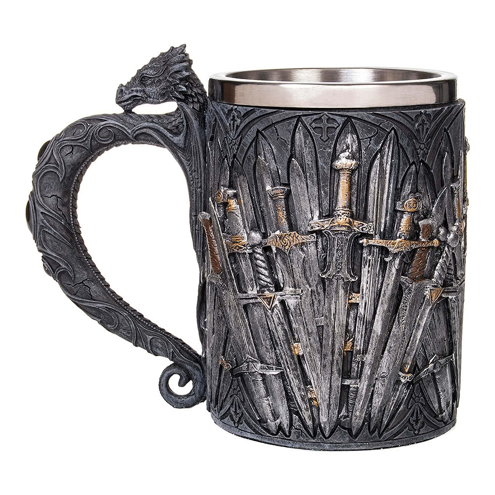 Nemesis Now Sword Tankard (Grey)