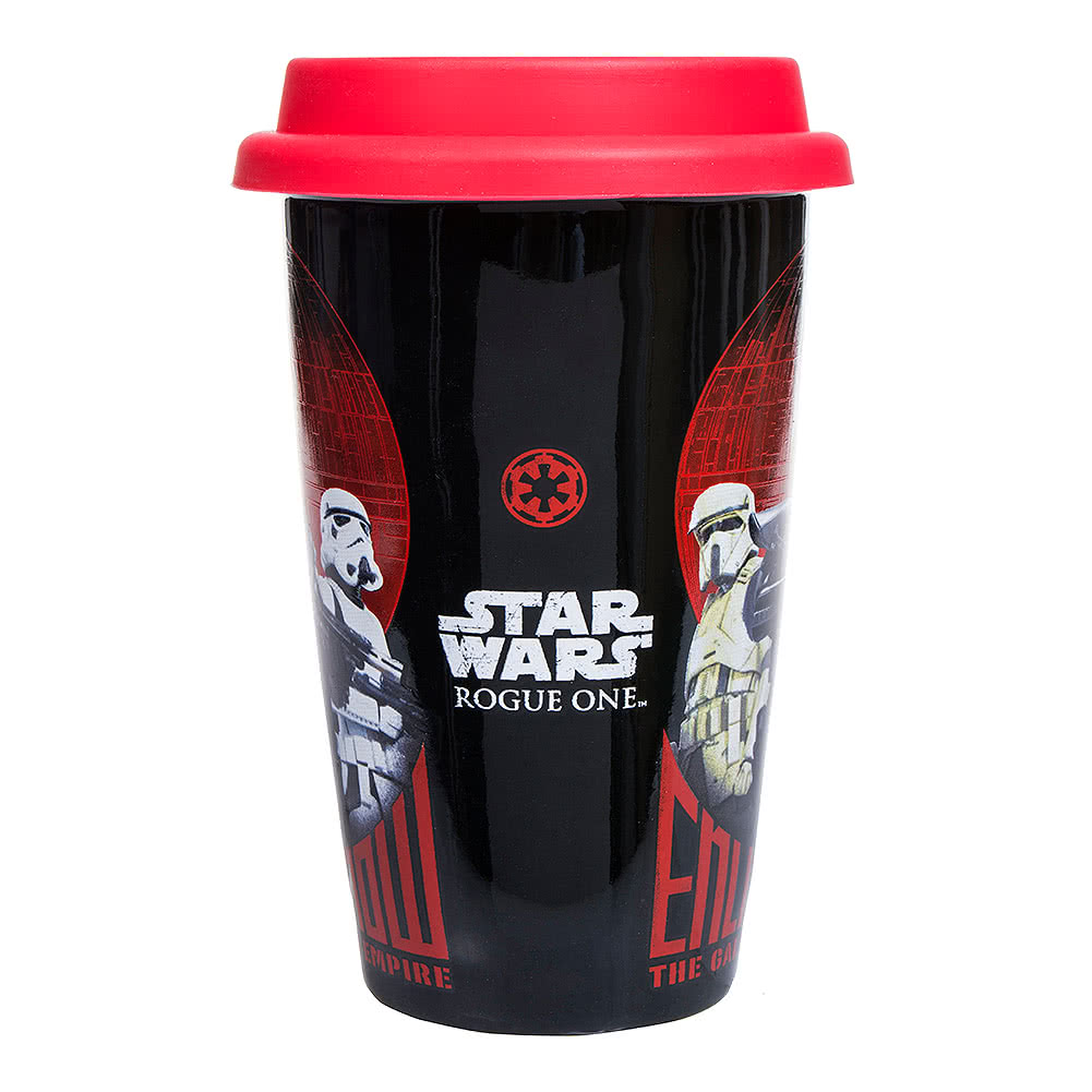 Star Wars Rogue One Enlist Now Travel Mug (Black/Red)
