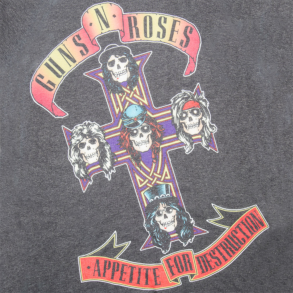 Official Guns N Roses Appetite Sublimation T Shirt (Grey/White)