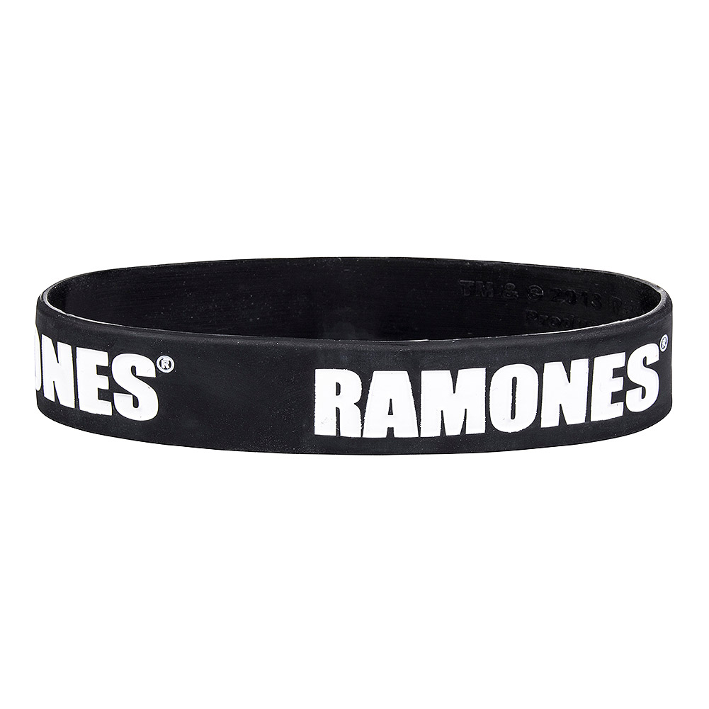 Official Ramones Logo Wristband (Black)