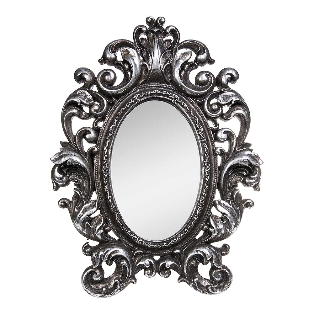 Alchemy gothic silver victorian mirror gifts for Victorian mirror