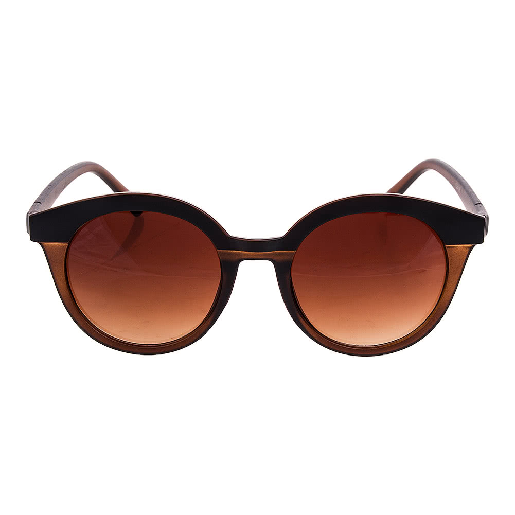Blue Banana Rounded Sunglasses (Brown)