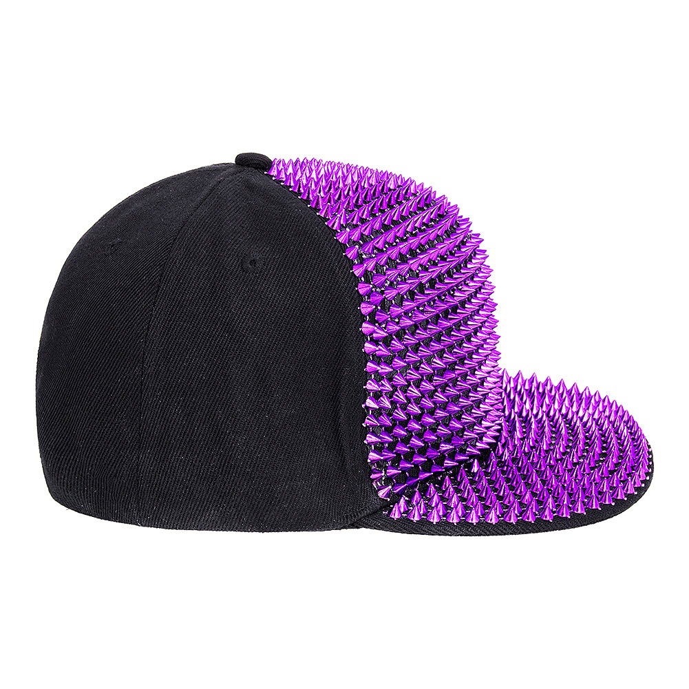 Blue Banana Spike Studded Cap (Black/Pink)