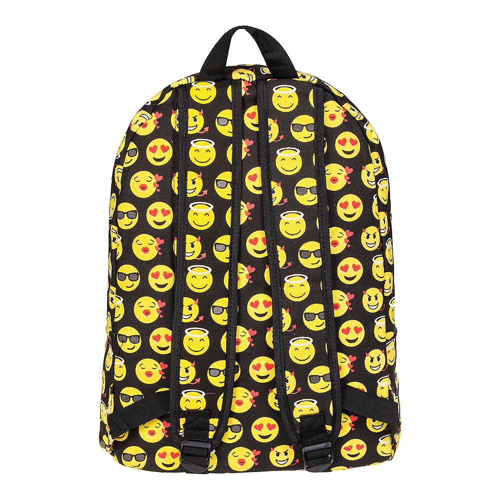 Blue Banana Emoji Backpack (Black/Yellow)