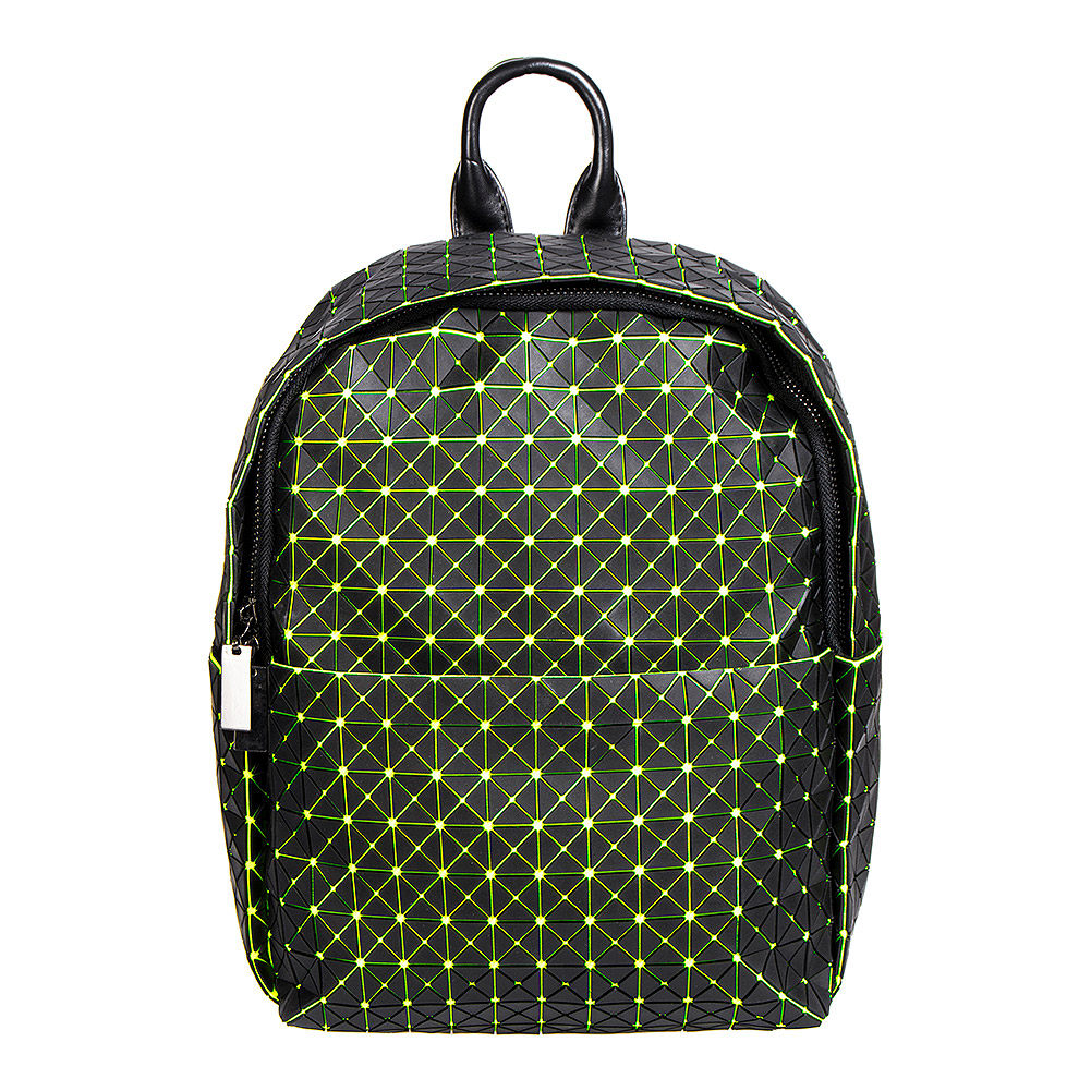 Blue Banana UV Squares Mini Backpack (Green)