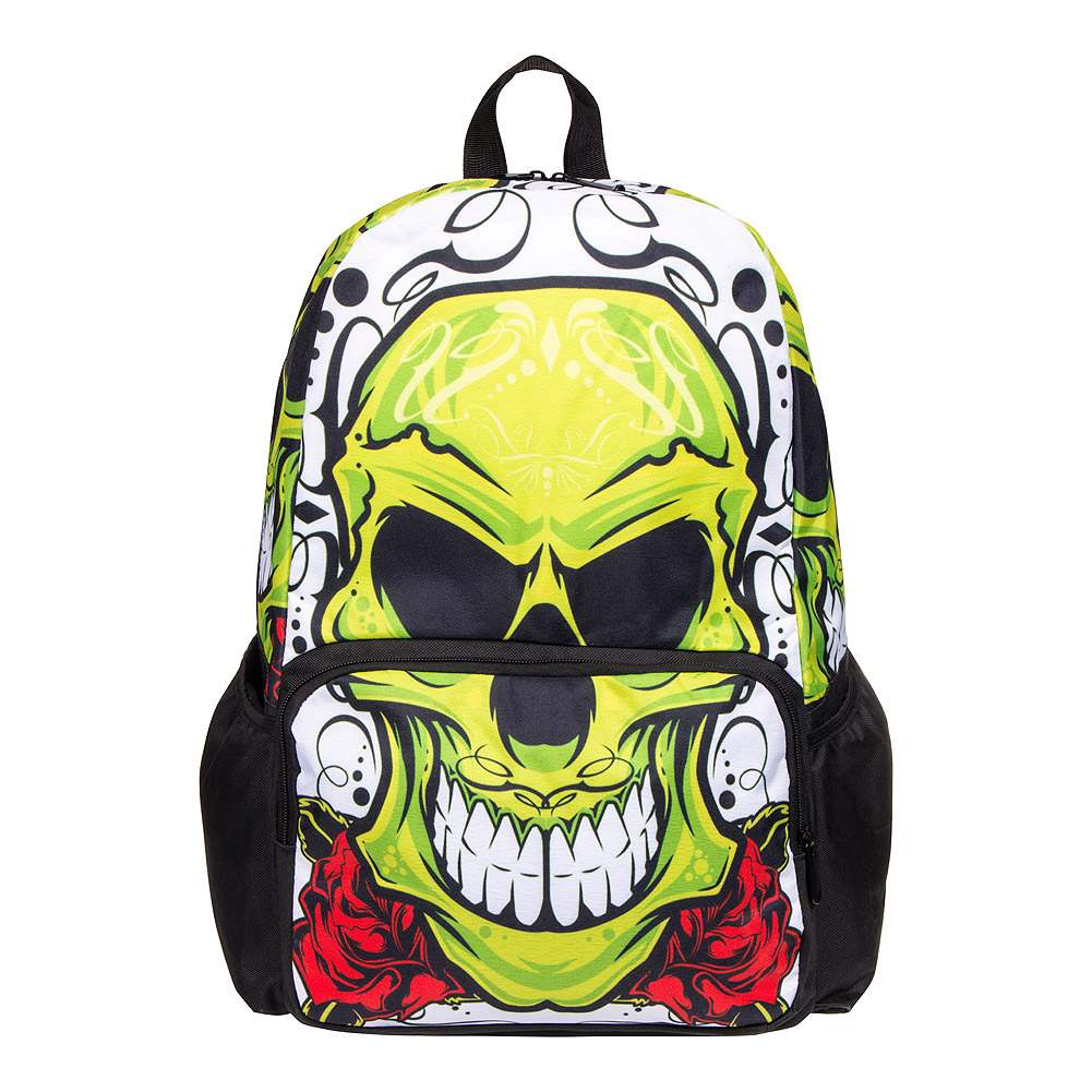 Blue Banana Skull Backpack (Green/Black)