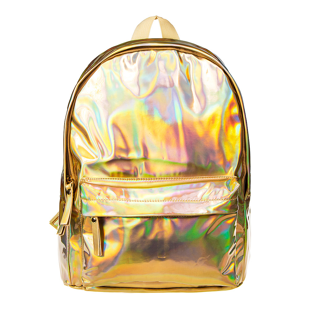 Blue Banana Holographic Backpack (Gold)
