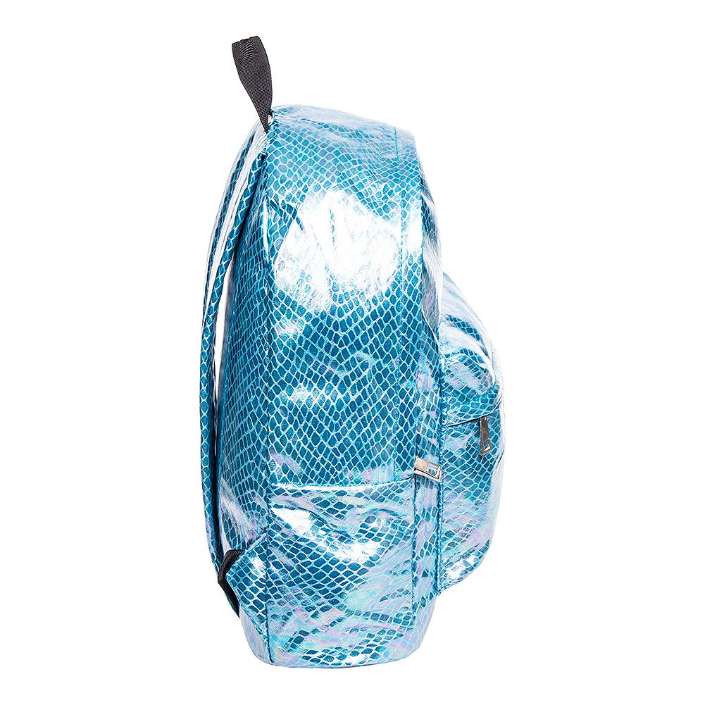 Bleeding Heart Petrol Crocodile Metallic Backpack (Teal)