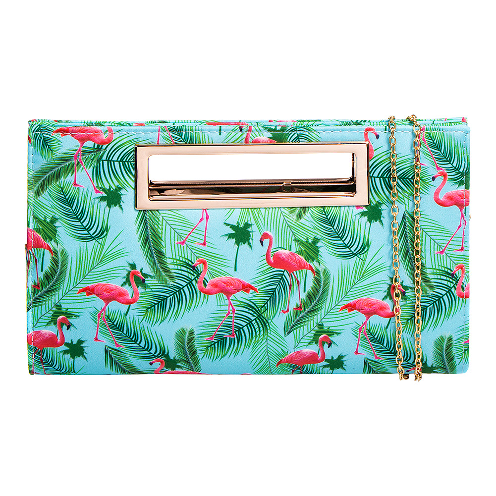 Blue Banana Flamingo Handbag (Multicoloured)