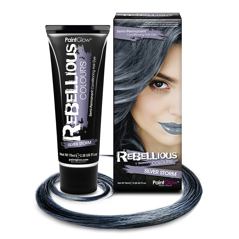 Paintglow Rebellious Colours Semi-Permanent Hair Dye 70ml  (Silver Storm)