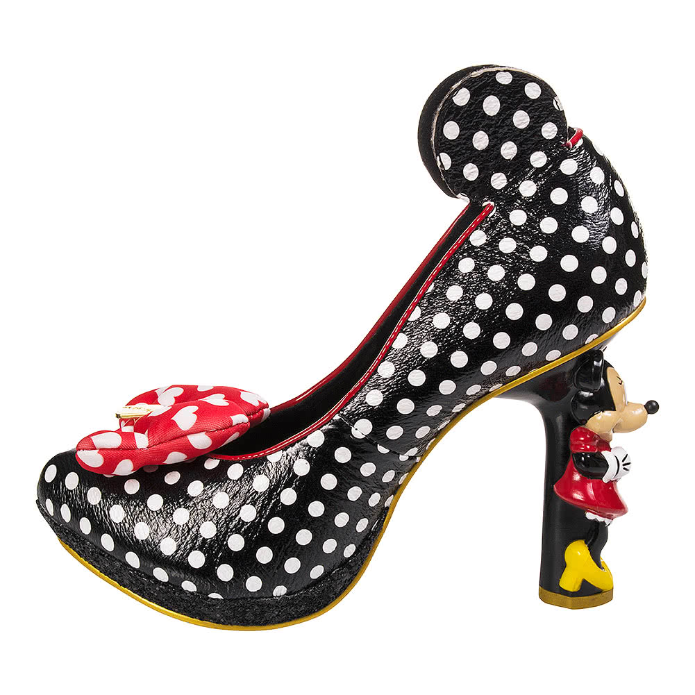 Irregular Choice Red And White Heart Shoes
