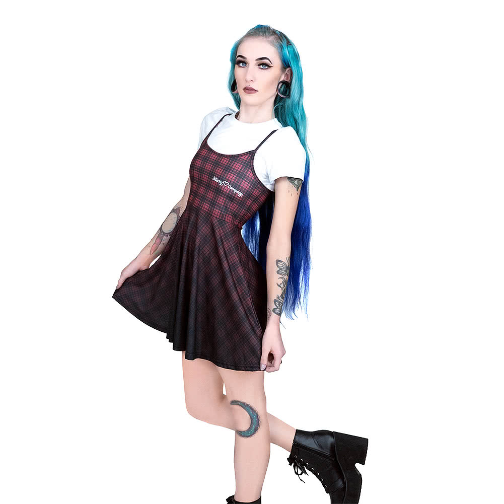 fearless illustration 2 in 1 grunge dress and crop top