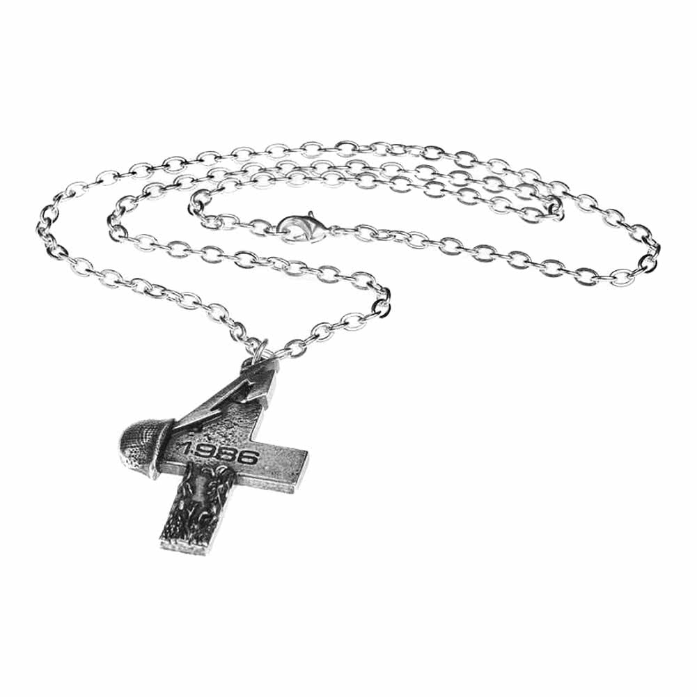 Alchemy Rocks Metallica Master of Puppets Cross Necklace (Silver)