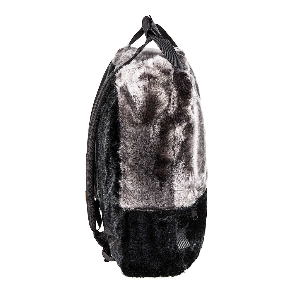 Spiral Faux Fur OG Backpack (Black)