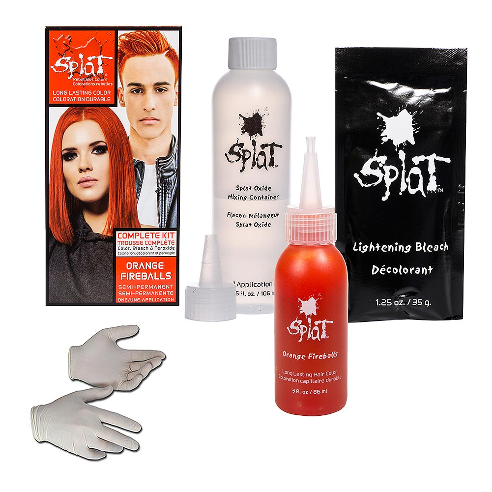 Splat Orange Fireballs Long Lasting Dye Semi Permanent