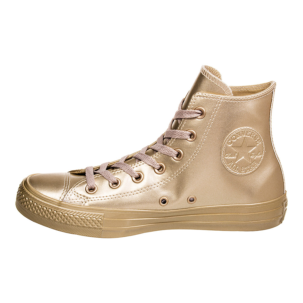 Converse All Star Metallic Hi Top Sneaker (All Light Gold)