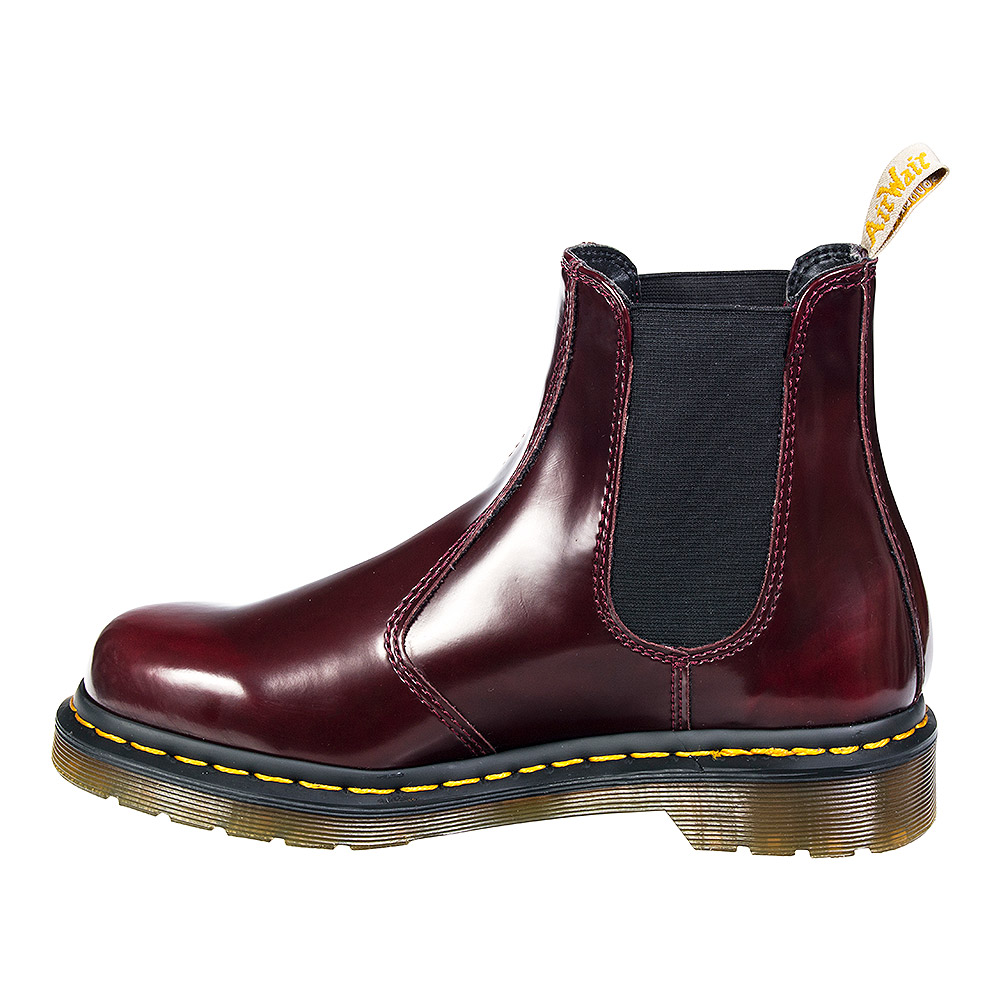 Dr Martens Vegan 2976 Chelsea Boots (Cherry Red)