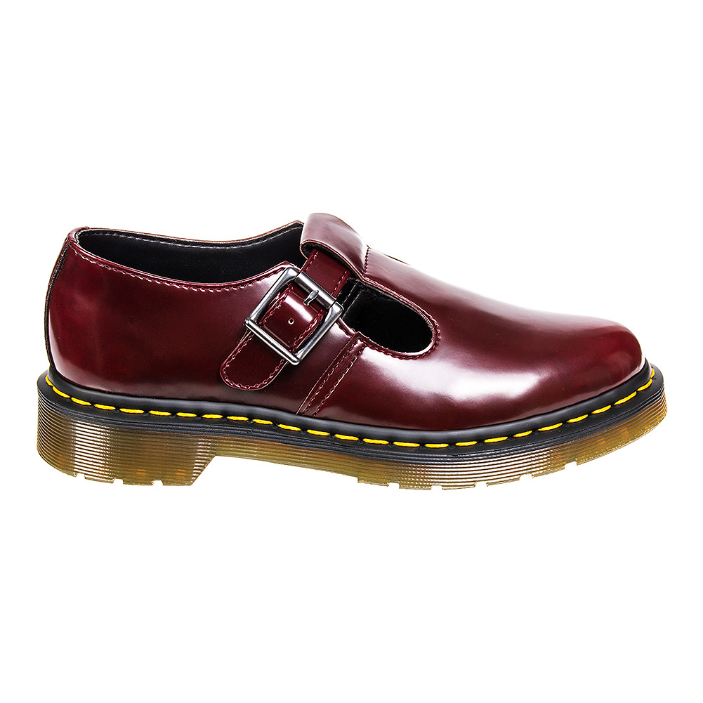 dr martens vegan polley shoes cambridge brush cherry red uk. Black Bedroom Furniture Sets. Home Design Ideas