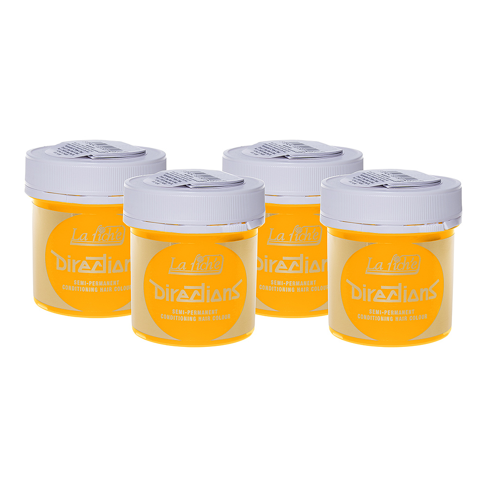 La Riche Directions Colour Hair Dye 4 Pack 88ml (Bright Daffodil)