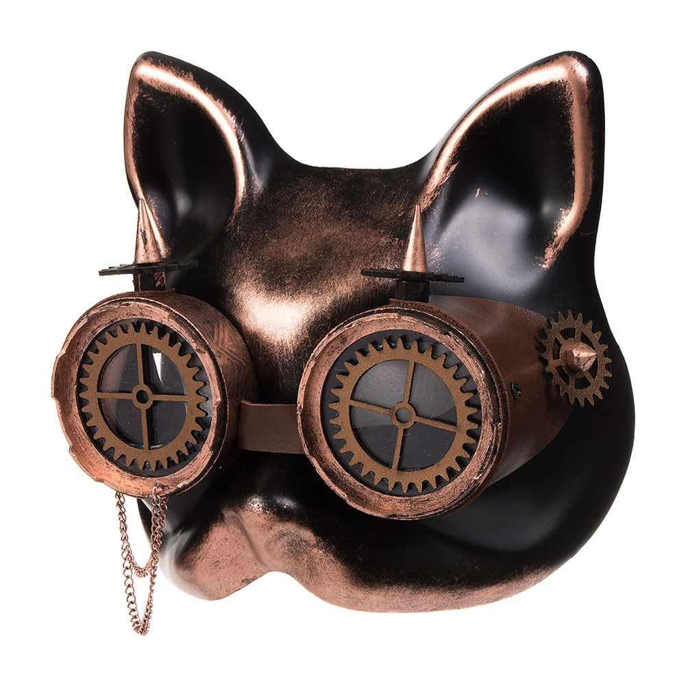 ... Blue Banana Ste&unk Cat Face Gears u0026 Goggles (Copper/Black) ...  sc 1 st  Blue Banana & Blue Banana Steampunk Cat Face Goggle Mask Copper Gears