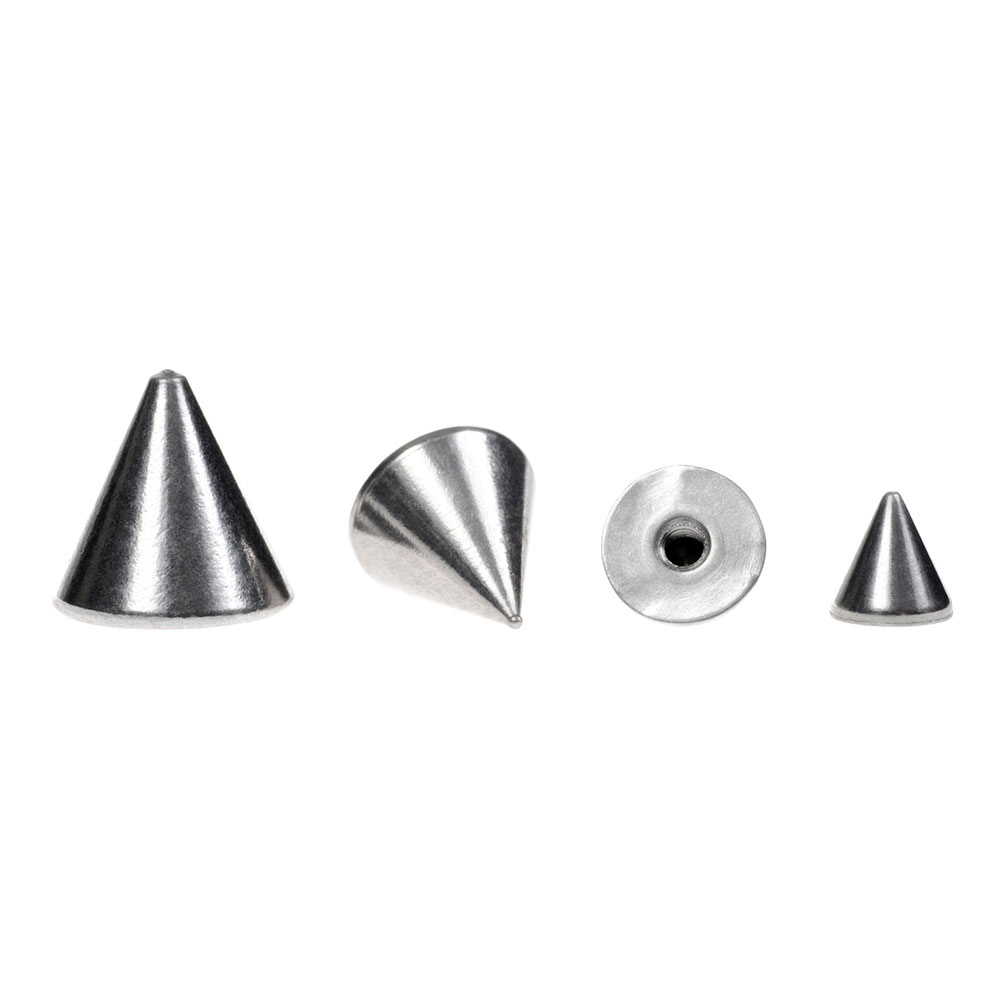 Blue Banana Surgical Steel 4mm Cone Add On Accessory (Silver)