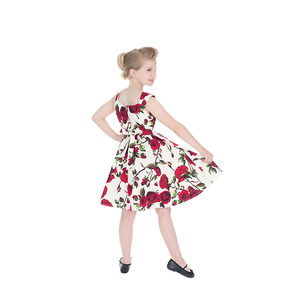 H&R Ditsy Rose Flower Kids Dress (White)