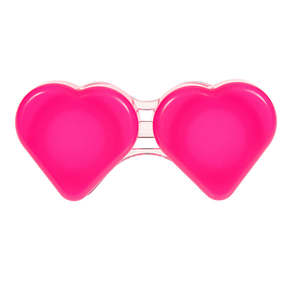 Coloured Contacts Heart Lens Case (Dark Pink)