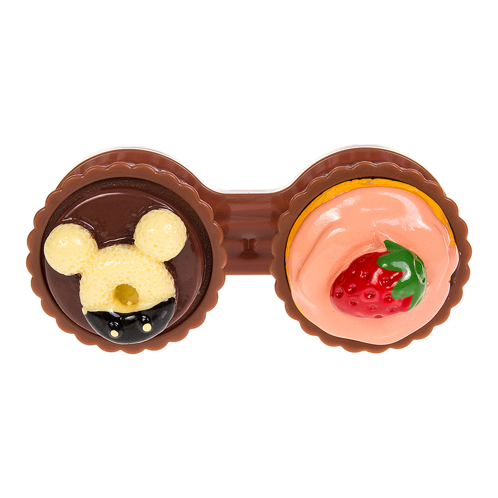 Coloured Contacts Cupcake Lens Case (Light Brown)