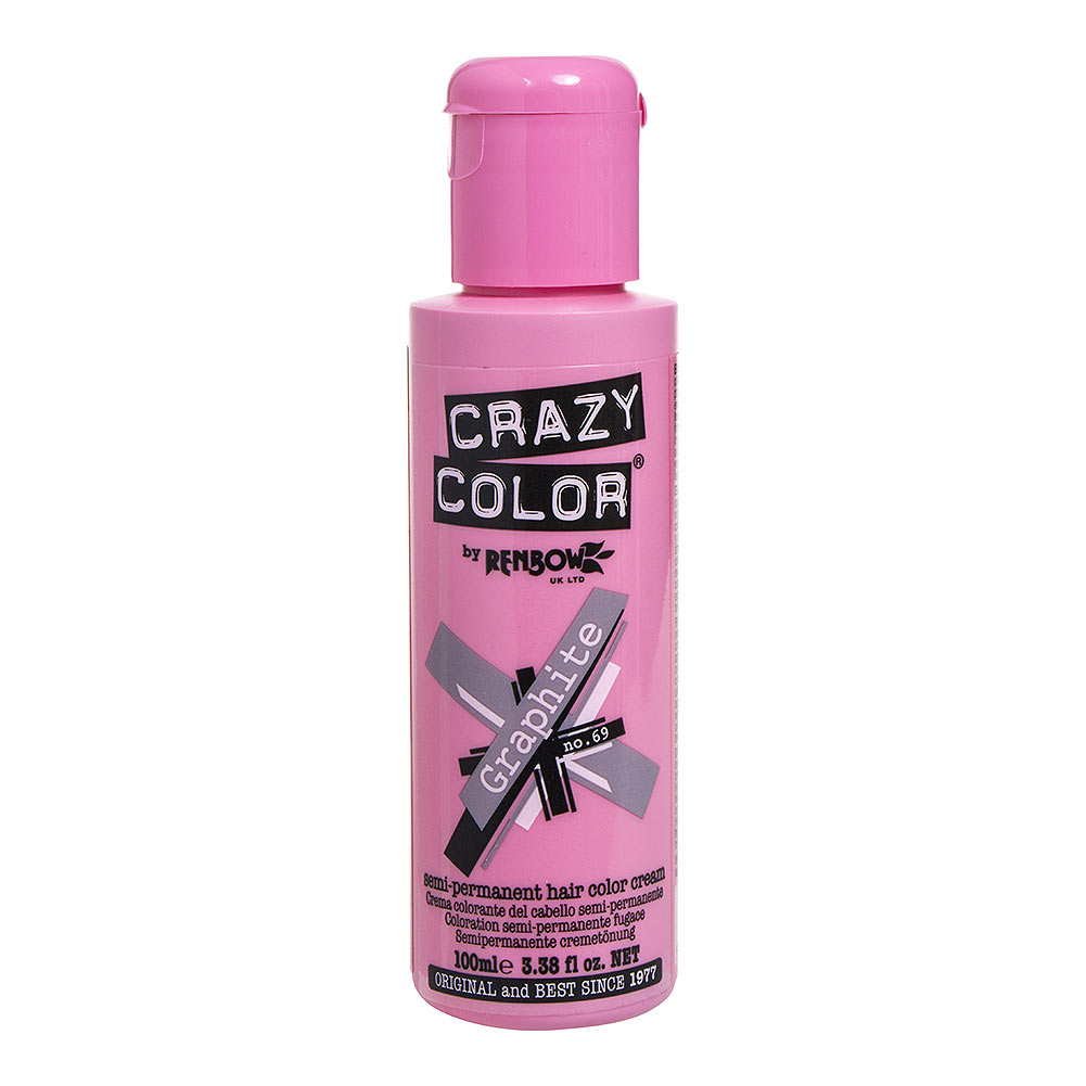 Crazy Color Semi-Permanent Hair Dye 100ml (Graphite)