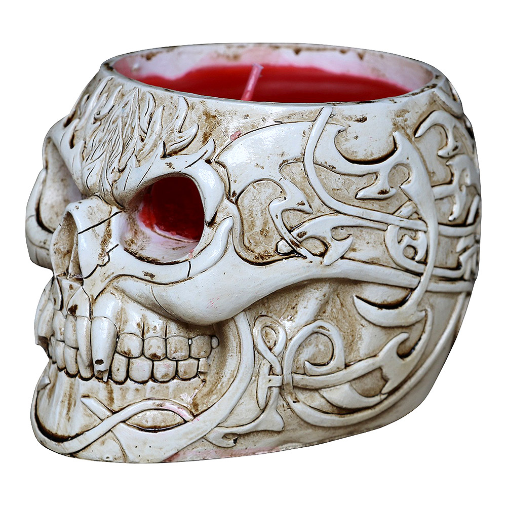 Spiral Direct Goth Skull Candle Holder (White)