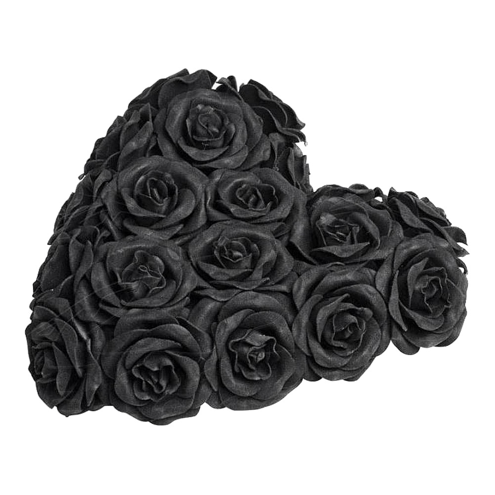 Alchemy Gothic Rose Heart Decoration (Black)