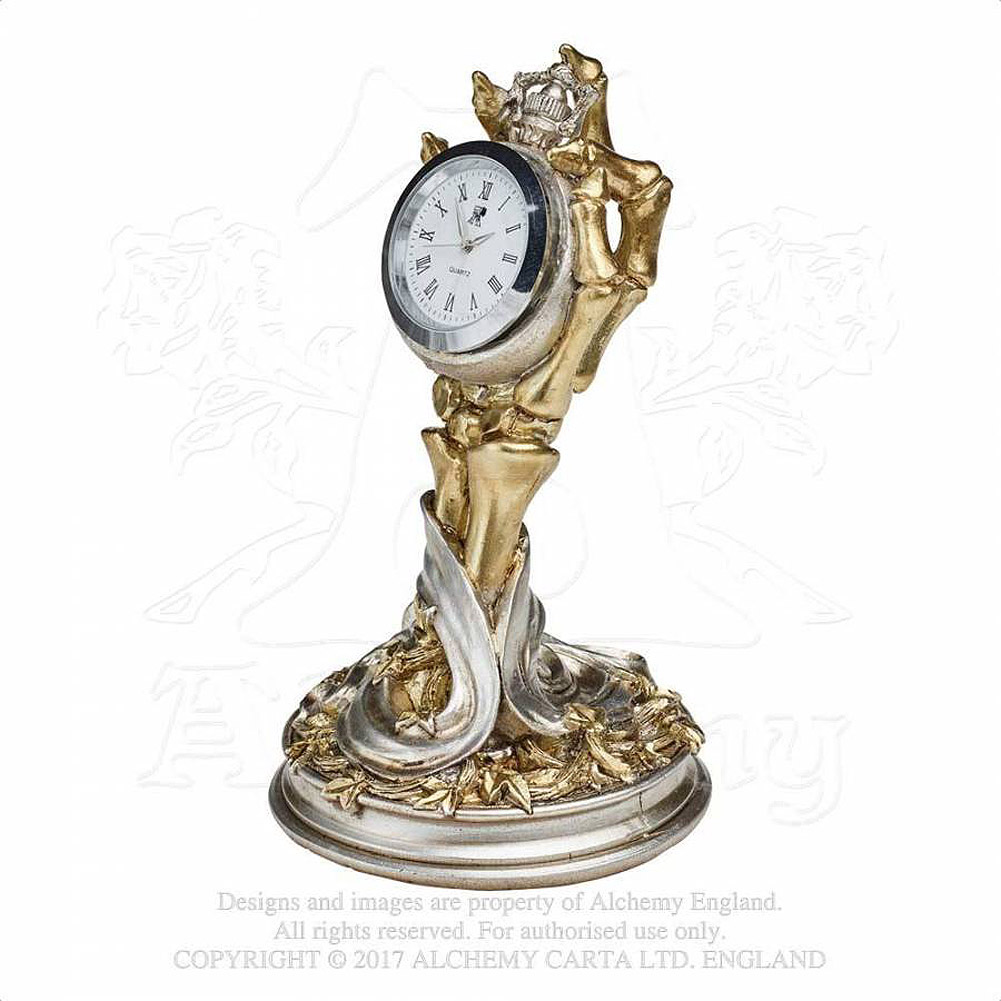 Alchemy Gothic Hora Mortis Clock Decoration (Gold/Silver)