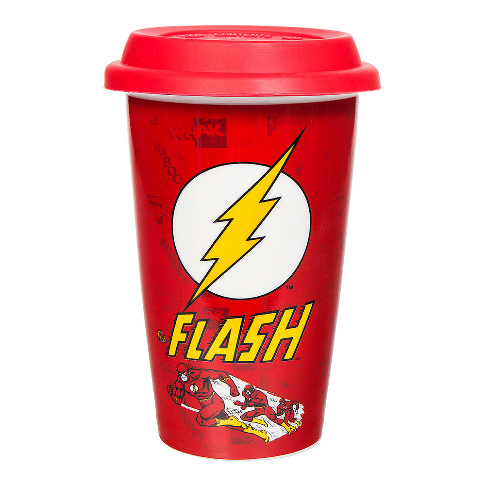 DC Comics The Flash Ceramic Travel Mug (Red)