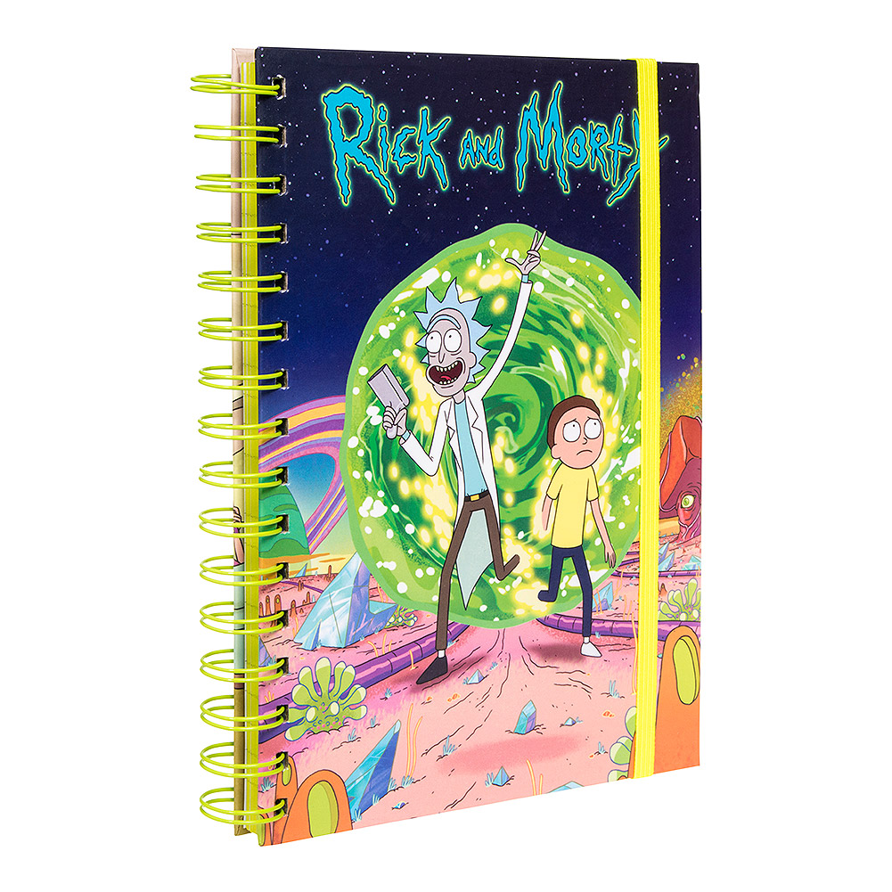 Rick & Morty Portal A5 Notebook (Multicoloured)