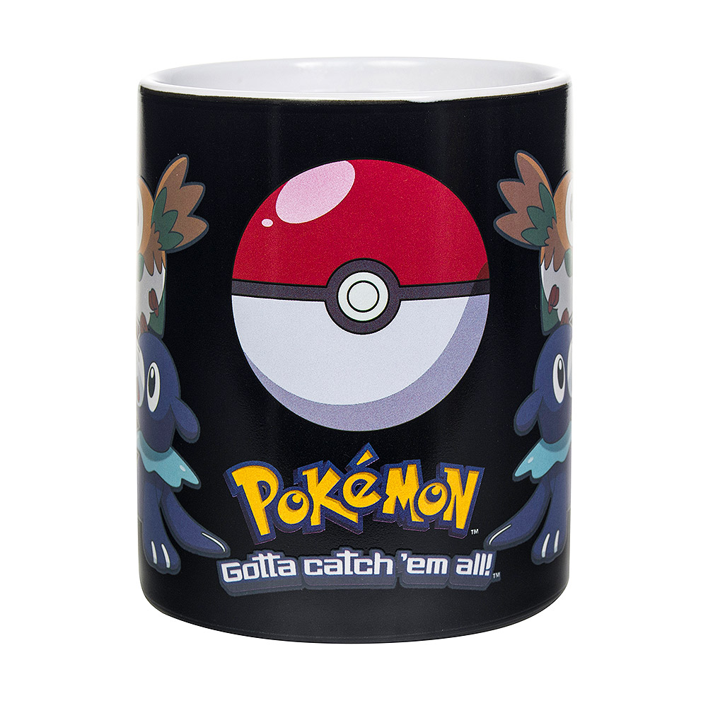 Pokemon Sun and Moon Heat Changing Mug (Black)