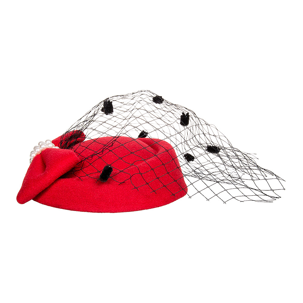Banned Judy Fascinator Hat (Red)
