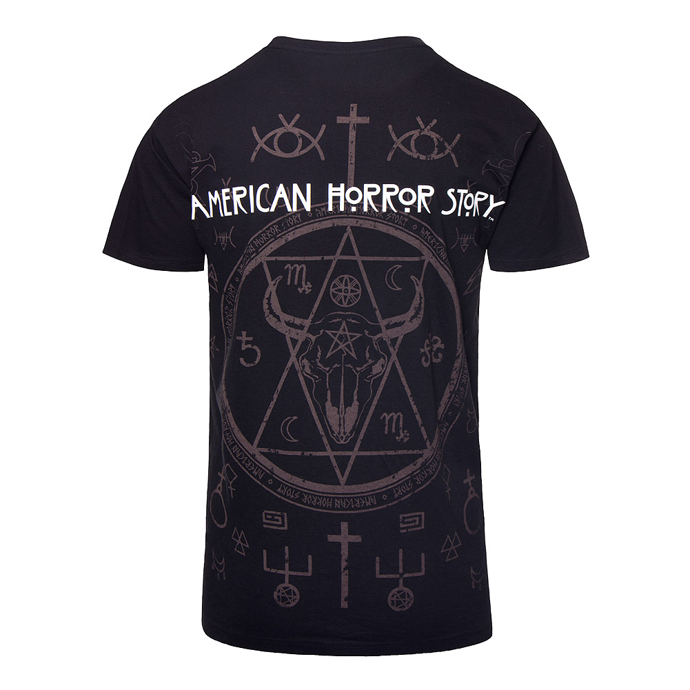 Spiral Direct x American Horror Story Snakemouth T Shirt (Schwarz)