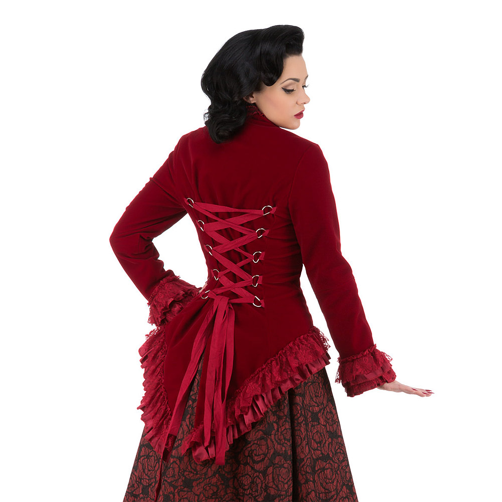 H&R Victorian Velvet Jacket (Red)
