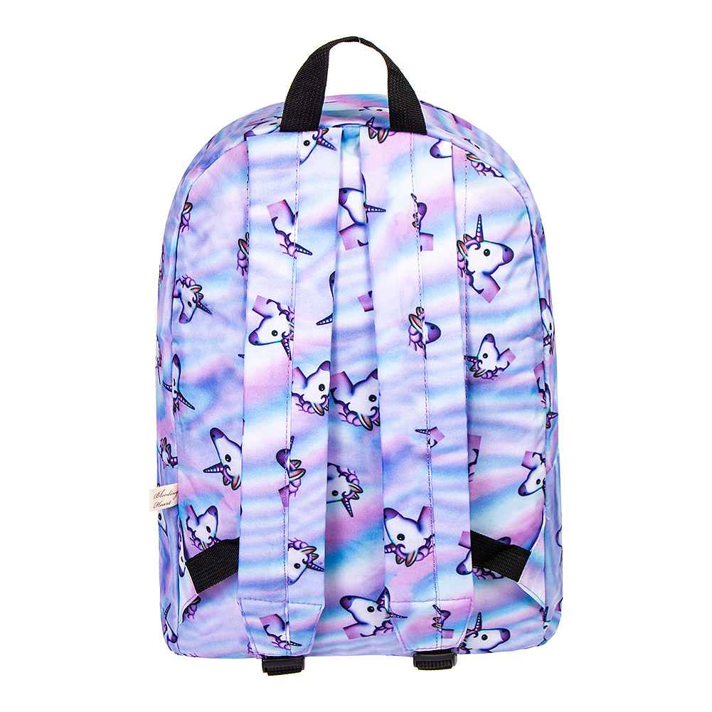 Bleeding Heart Rainbow Unicorn Backpack (Multicoloured)