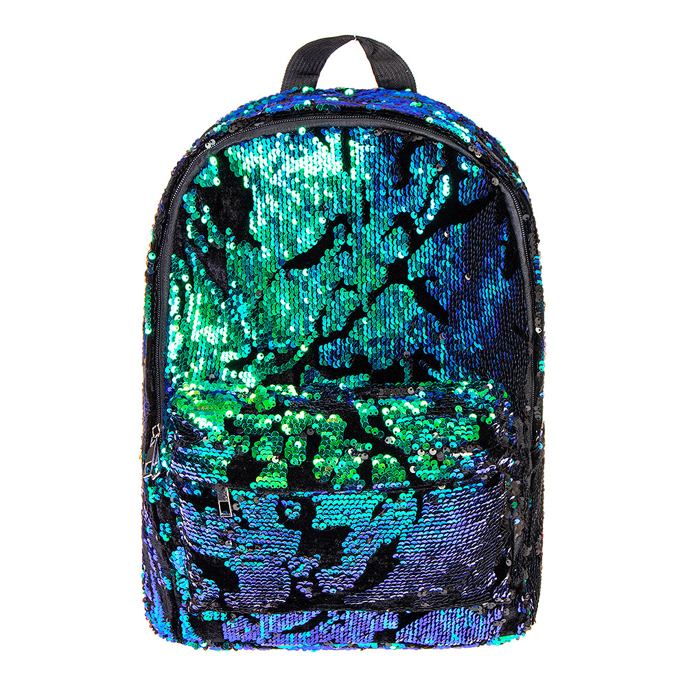 ... Bleeding Heart Velvet Sequin Backpack (Green Blue Black) ... d006d5c34bb5f