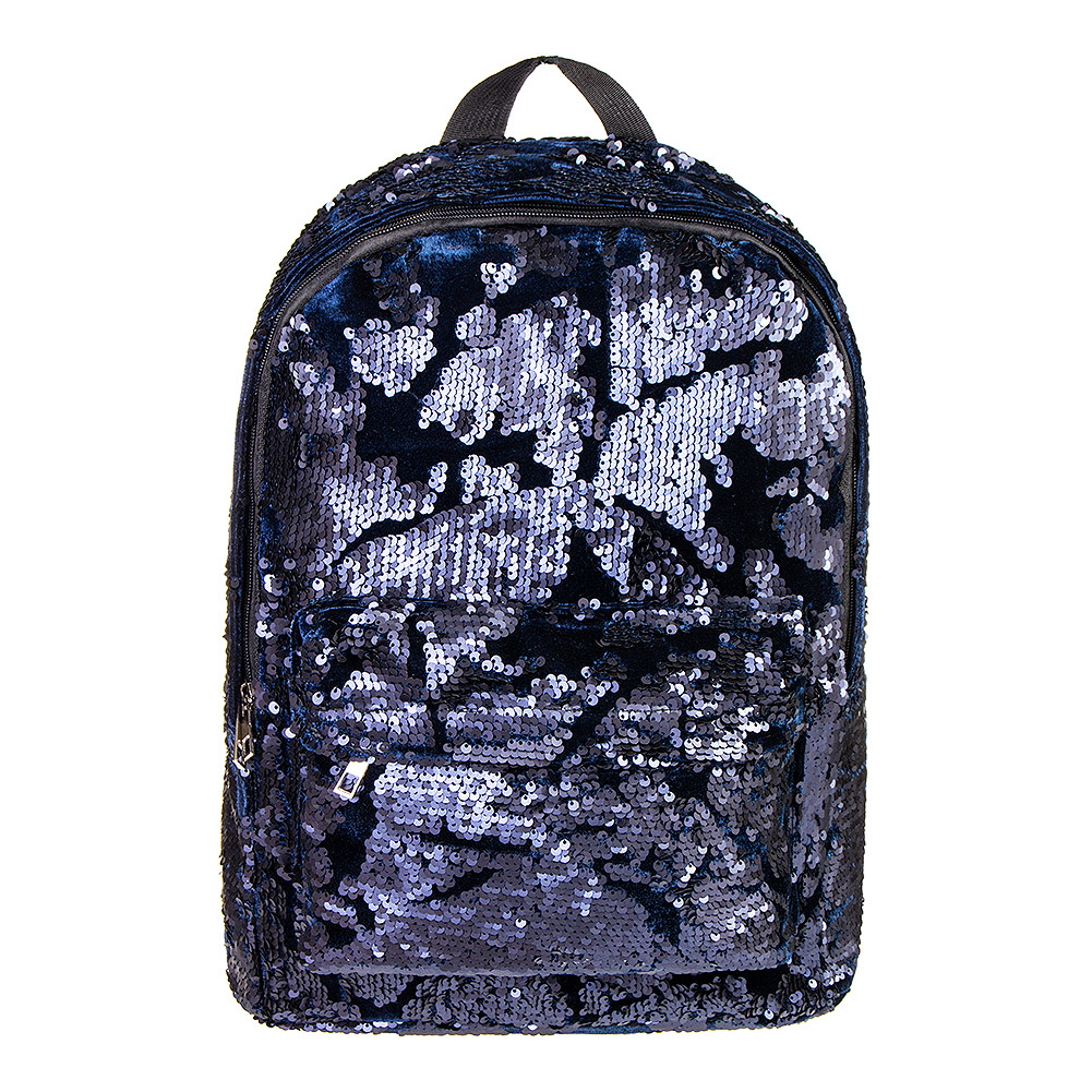 ... Bleeding Heart Velvet Sequin Backpack (Black Blue) ... 31b2c5a608089