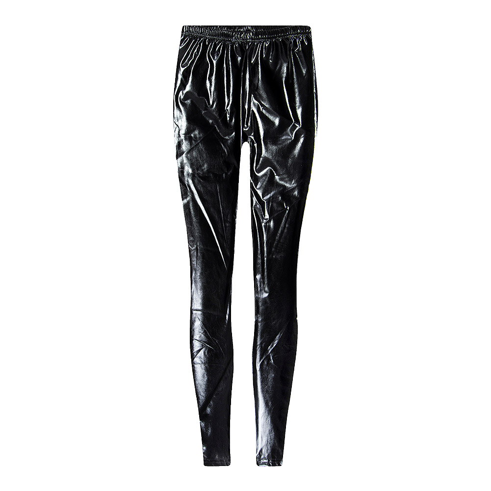 Blue Banana Wet Look Leggings (Schwarz)