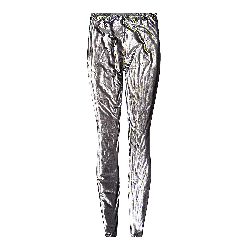 Blue Banana Wet Look Leggings (Antique Silver)